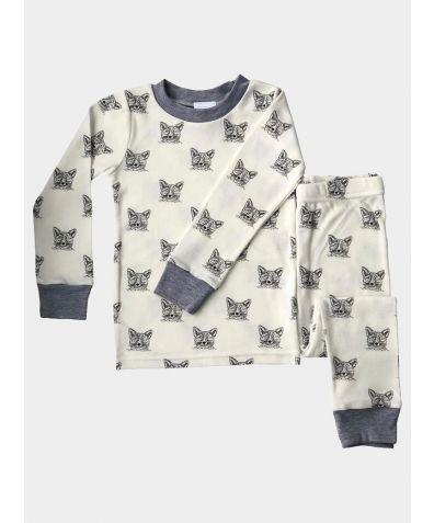 Children's Cotton Pyjama Set - Sleepy Fox