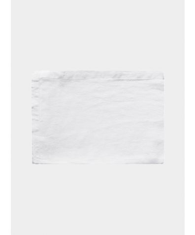 Linen Fitted Sheet - Classic White