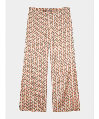Mulberry Silk Lounge Trousers - Coral