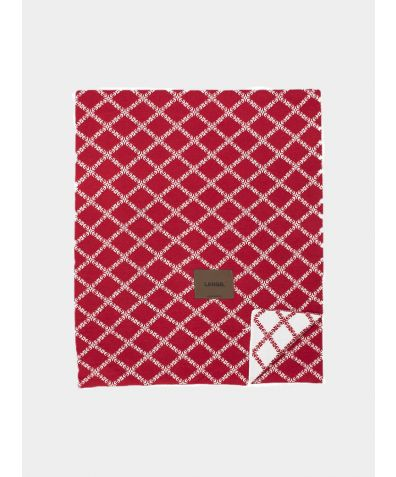 Merino Wool Blanket - Red White