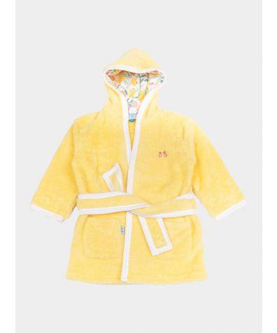 Girls Fleece Dressing Gown - Lemon Grove Yellow