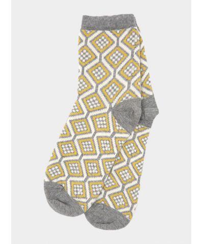 Ash Grey Wave Socks