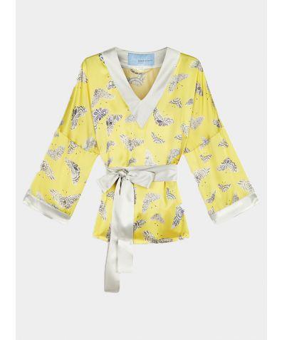 Lacewing Silk Tunic - Yellow