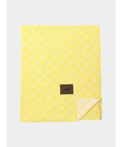 Merino Wool Blanket - Yellow White