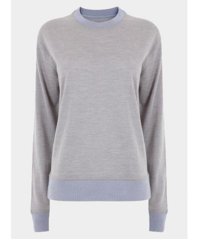 Plain Merino Wool Reset Jumper - Grey