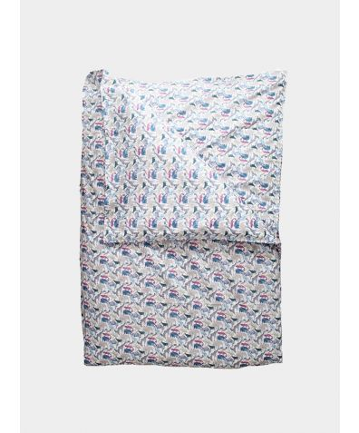 Liberty Print Bedding Set - Queue for the Zoo Blue