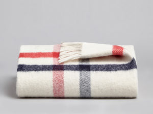 Coze's Danan Luxury Wool Blanket - Sky & Rose