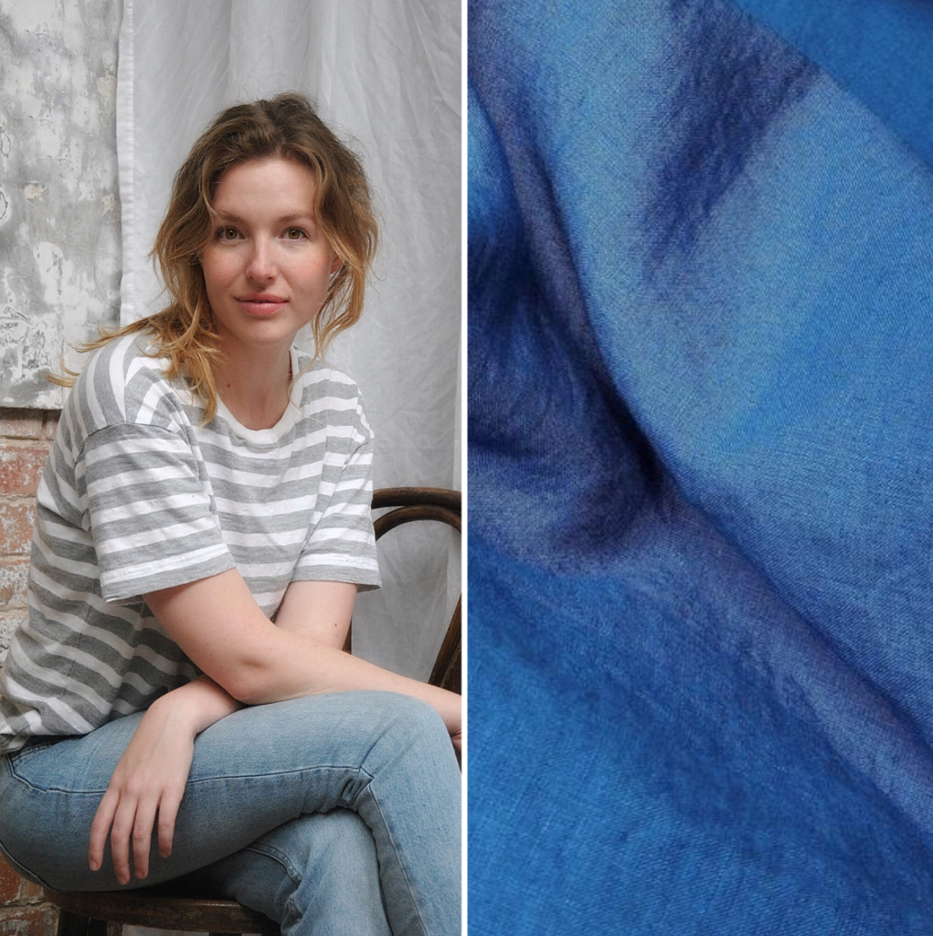 Piglet's founder Jessica Mason and link to Piglet's Indigo Blue Duvet Cover