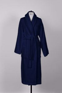 The Reach London's Unisex Full Length Luxury Navy Blue Turkish Cotton Bathrobe
