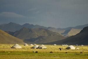 Yurt camp in the Bayan Olgii province of Mongolia