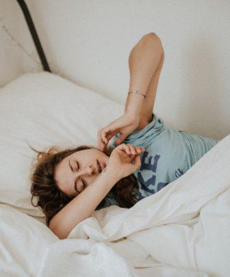 Woman waking-up