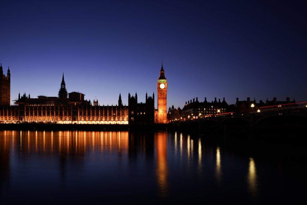 Image of Big Ben at night-time