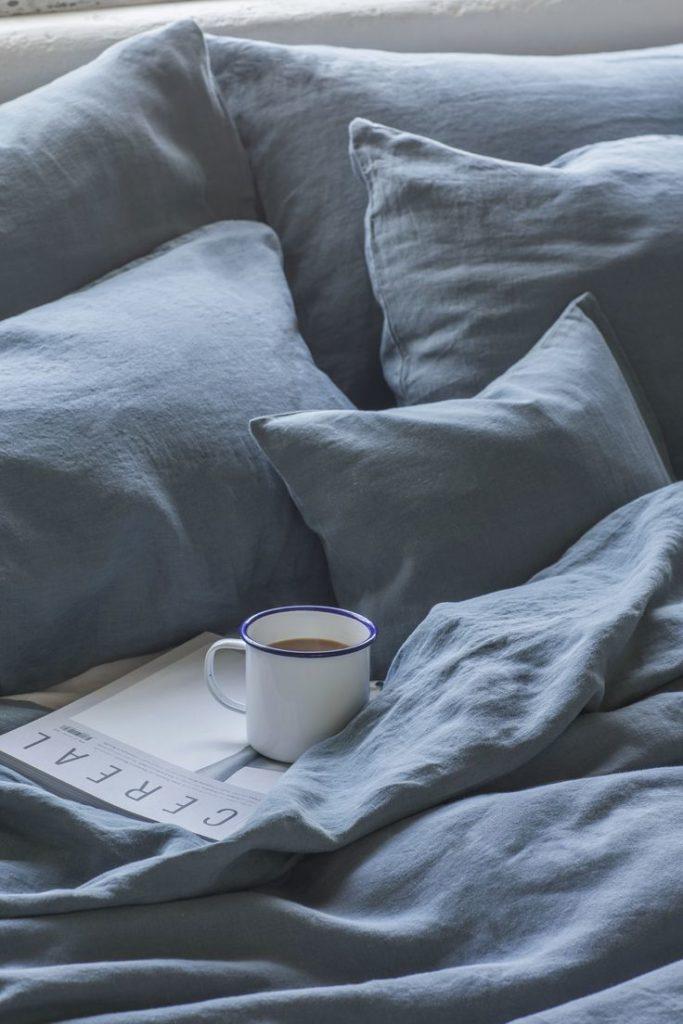 100% Pure French Linen Duvet Cover - Toulon Dove Grey Linen Works