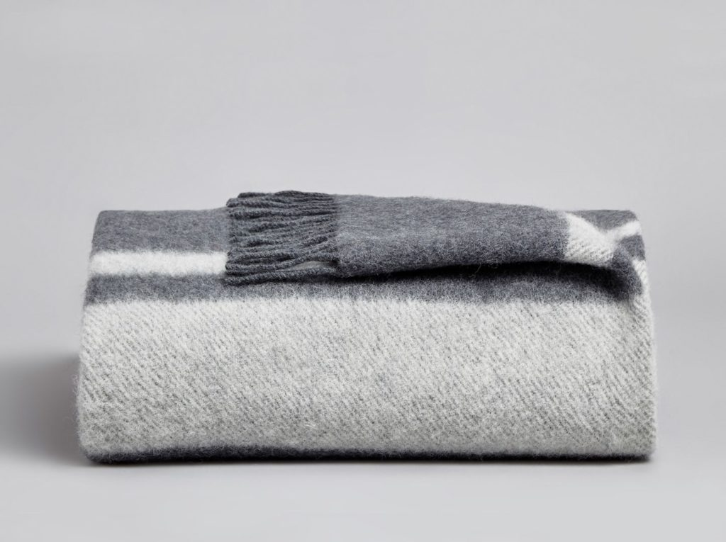 Coze - Danan Wool Blanket - Midnight & Stone