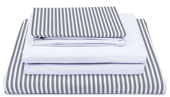 Third Living - Long Staple 500 Thread Count Cotton Bed Set - Linear