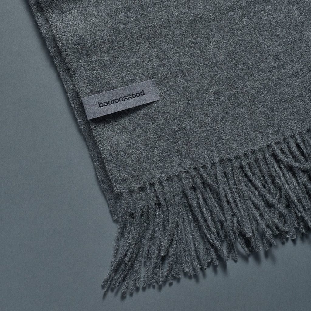 Bedroommood - Alpaca Throw (Twill Weave) - Medium Grey