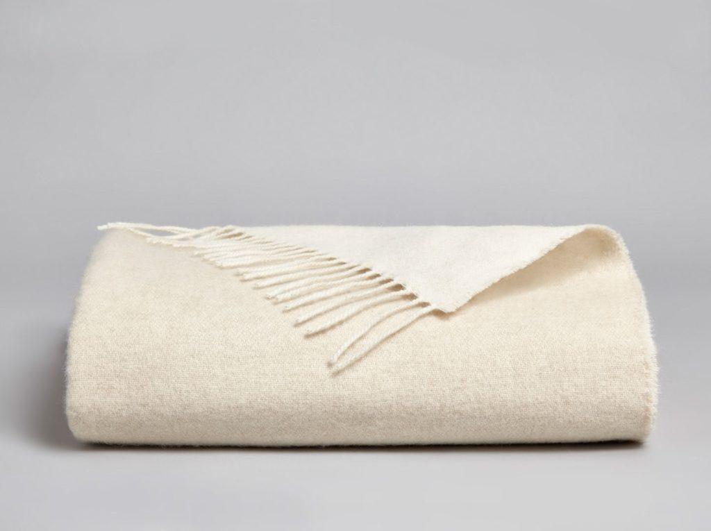Anzan Reversible Cashmere Blanket - Stone