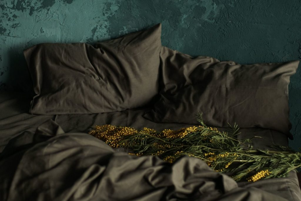 Bamboo & Linen Bedding - Olive Grey