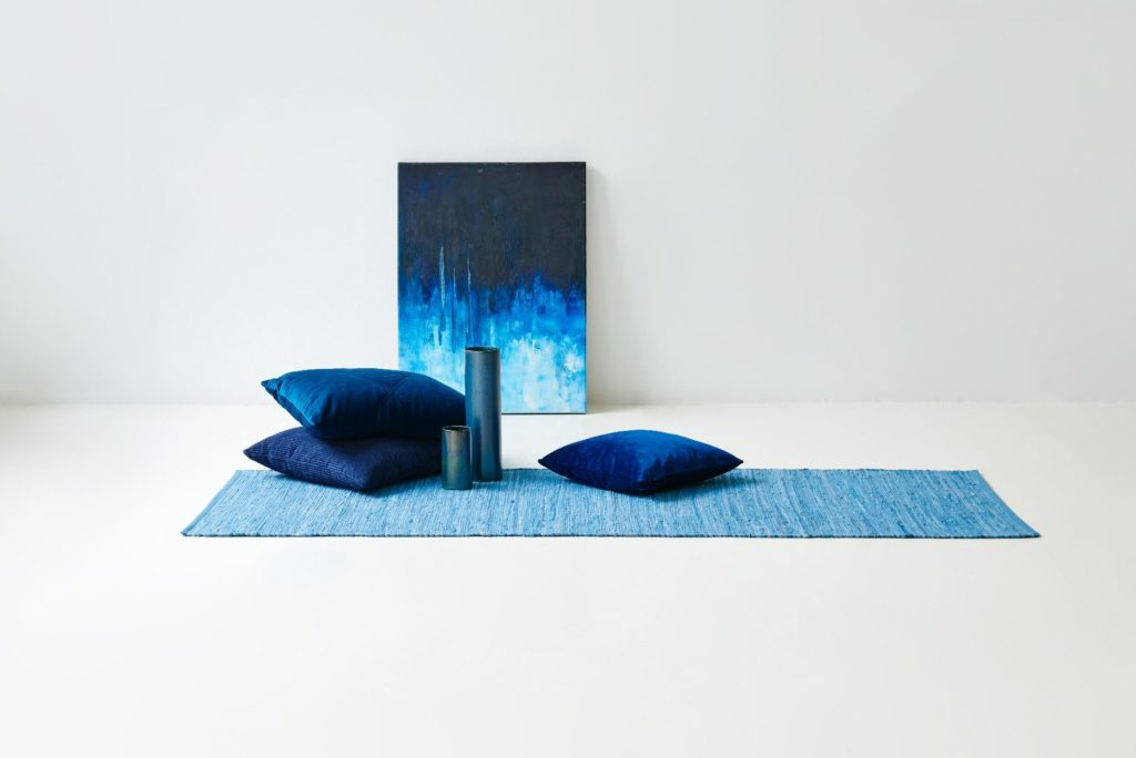 Cotton Rug - Eternity Blue