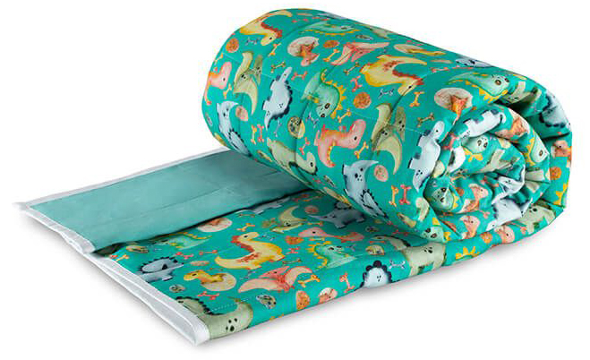 Children's Weighted Blanket - Green Dinosaurs: From £75.00