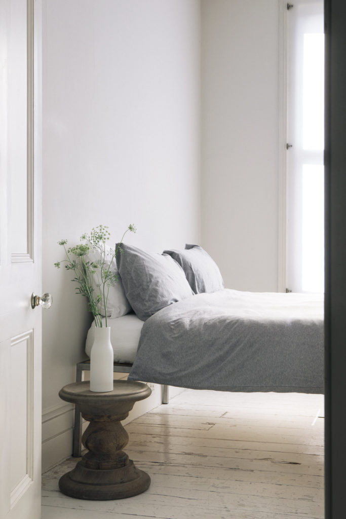 Organic Cotton Jersey Bed Linen - Grey Melange