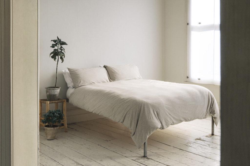 Organic Cotton Jersey Bed Linen - Beige Melange