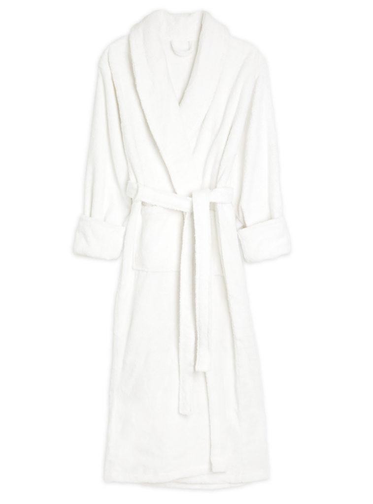 Full Length Turkish Cotton Bathrobe - White