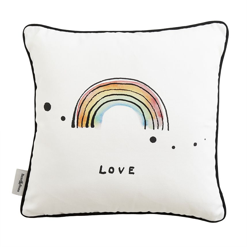 Rainbow Love Cushion