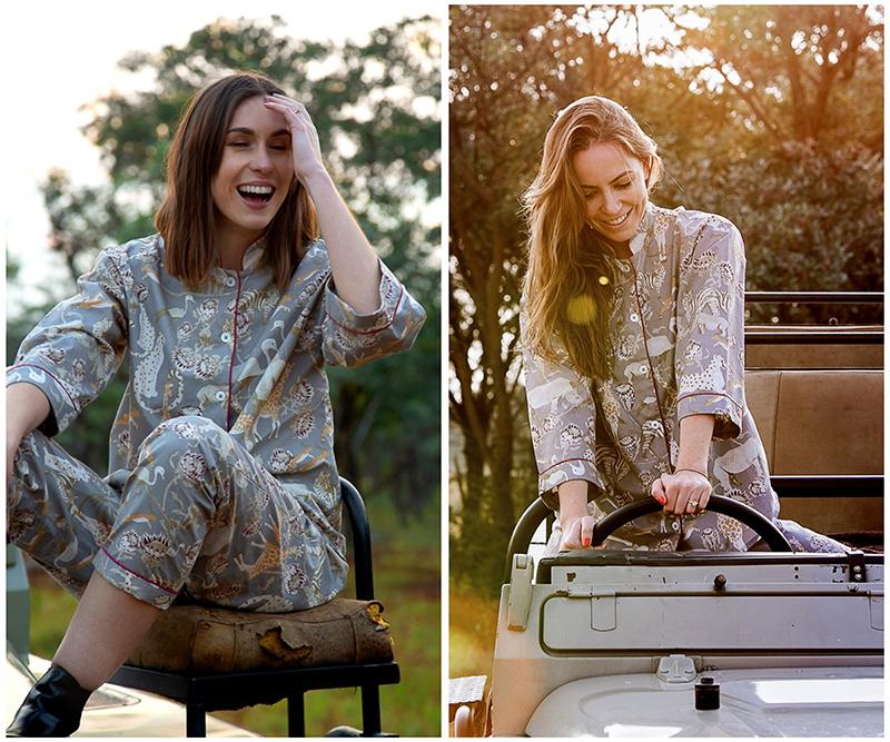 Organic Cotton Safari Pyjamas - Rhino Grey