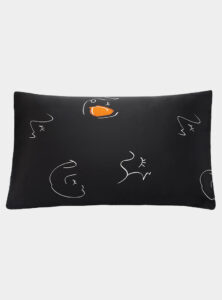 The Best Bedding For You - Not Just Pajama - Silk Printed Pillowcase - Black