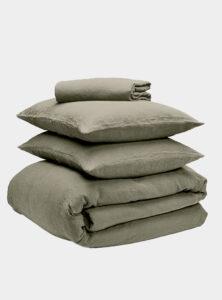 The Best Bedding For You - Bedfolk - Linen Bedding Bundle - Moss